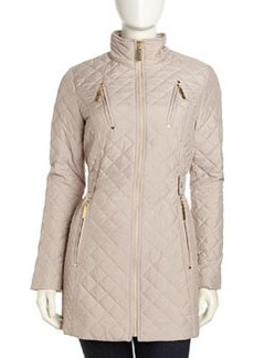Betsey Johnson Quilted Zip Jacket, Cloud