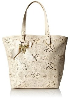 Betsey Johnson Racey Lacey Tote Shoulder Bag