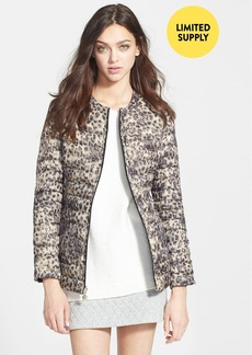Betsey Johnson Reversible Leopard Print Down Jacket (Online Only)