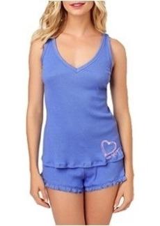 Betsey Johnson Ribbed Knit Pajama Set Plus Size