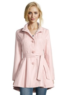 Betsey Johnson rose cotton blend flower button-front A-line trench ...