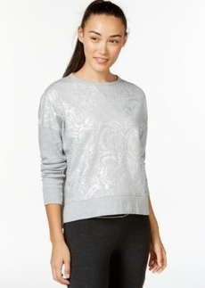 Betsey Johnson Rose Foil Print Sweatshirt