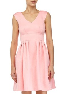 Betsey Johnson Rose-Jacquard Fit-and-Flare Dress