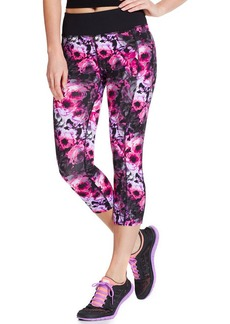 Betsey Johnson Rose-Print Active Capri Pants