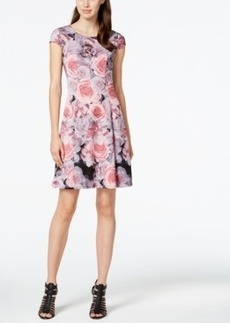 Betsey Johnson Rose-Print Scuba Dress