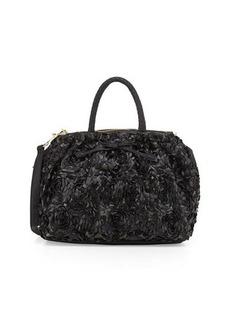 Betsey Johnson Rosette PVC Satchel Bag