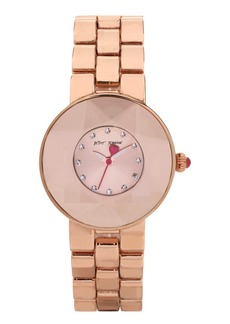 Betsey Johnson Round Bracelet Watch, 33mm