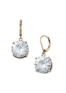 Betsey Johnson Round Crystal Earrings