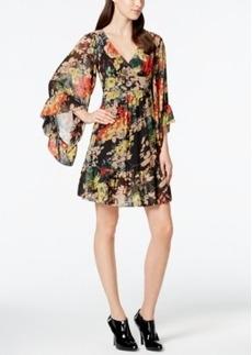 Betsey Johnson Ruffle-Trim Floral Peasant Dress
