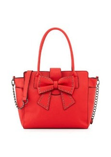 Betsey Johnson Saffiano Bow Tote Bag, Red