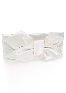 Betsey Johnson Satin Bow Clutch