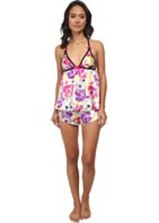 Betsey Johnson Satin Shorts Set