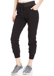 Betsey Johnson Satin-Trim Banded Sweatpants