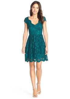 Betsey Johnson Scalloped Lace Fit & Flare Dress