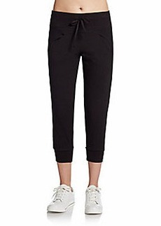 Betsey Johnson Scoop-Pocket Cropped Pants