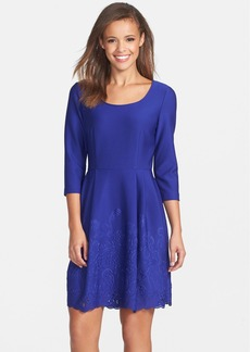 Betsey Johnson Scuba Fit & Flare Dress