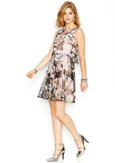 Betsey Johnson Sequin Tie-Dye Overlay Dress