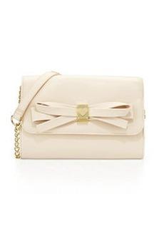 Betsey Johnson Serendipity Bow-Embellished Crossbody Bag, Cream