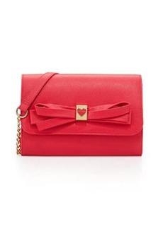 Betsey Johnson Serendipity Bow-Embellished Crossbody Bag, Fuchsia