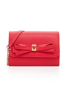 Betsey Johnson Serendipity Bow-Embellished Crossbody Bag, Fuchsia