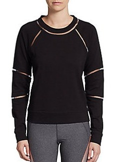 Betsey Johnson Sheer-Seam Raglan Top