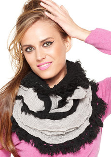 Betsey Johnson Shimmer Woven Infinity Loop Scarf