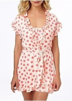Betsey Johnson Silky Luxe Neon Dot Wrap