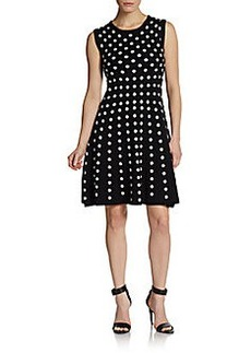 Betsey Johnson Sleeveless Dotted Knit Dress