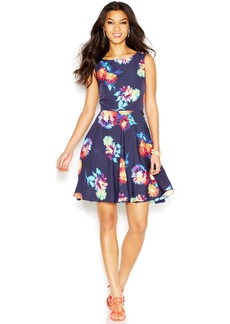Betsey Johnson Sleeveless Floral-Print Dress