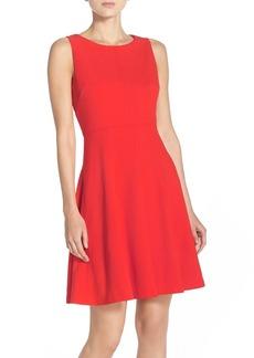 Betsey Johnson Sleeveless Scuba Fit & Flare Dress