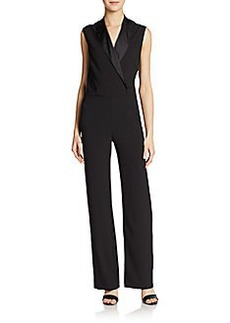 Betsey Johnson Sleeveless Tuxedo Jumpsuit