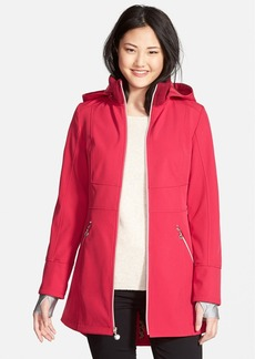 Betsey Johnson Soft Shell Jacket with Detachable Hood