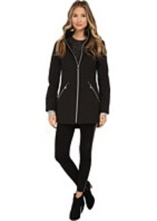 Betsey Johnson Softshell Hooded Zip Front