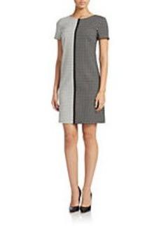BETSEY JOHNSON Split Geo-Print Shift Dress