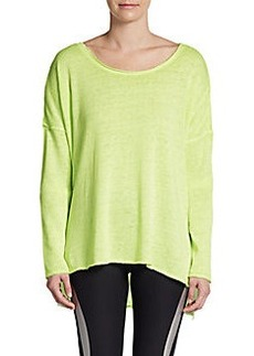 Betsey Johnson Split-Hem Pullover Top