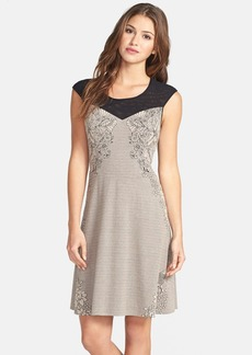Betsey Johnson Stretch Fit & Flare Dress