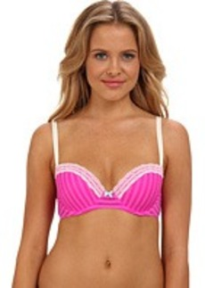 Betsey Johnson Stripe Hype Balconette Bra 723756