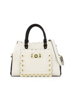 Betsey Johnson Stud Faux-Leather Satchel Bag
