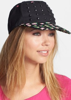 Betsey Johnson Studded Floral Trucker Hat