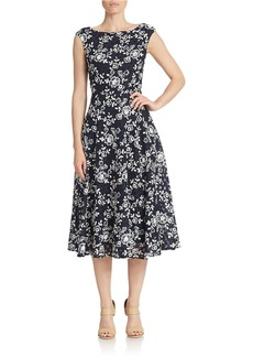 BETSEY JOHNSON Tea-Length Fit and Flare Dress