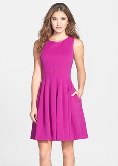 Betsey Johnson Textured Fit & Flare Dress