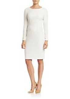 BETSEY JOHNSON Textured Knit Sheath Dress