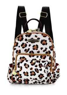 Betsey Johnson TGIF Leopard-Print Medium Backpack