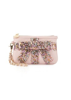 Betsey Johnson That's A Wrap Sequined Wristlet