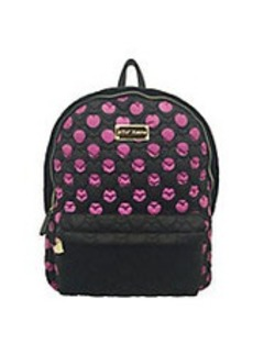 BETSEY JOHNSON Tie The Knot Qulited Backpack