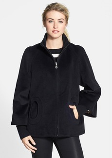 Betsey Johnson 'Toggle' Flyaway Wool & Angora Blend Coat (Online Only)
