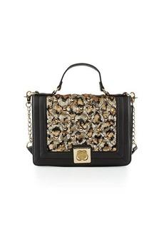 Betsey Johnson Tuft Love Sequined Shoulder Bag