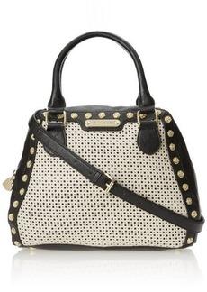Betsey Johnson Tuxedo Junction Bowler Top Handle Bag