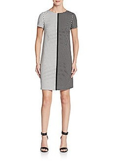Betsey Johnson Two-Tone Square Print Dress