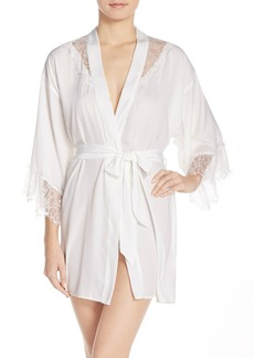 Betsey Johnson Washed Satin Short Robe